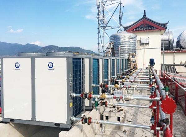 云南丽江华盛大酒店空气能热泵工程