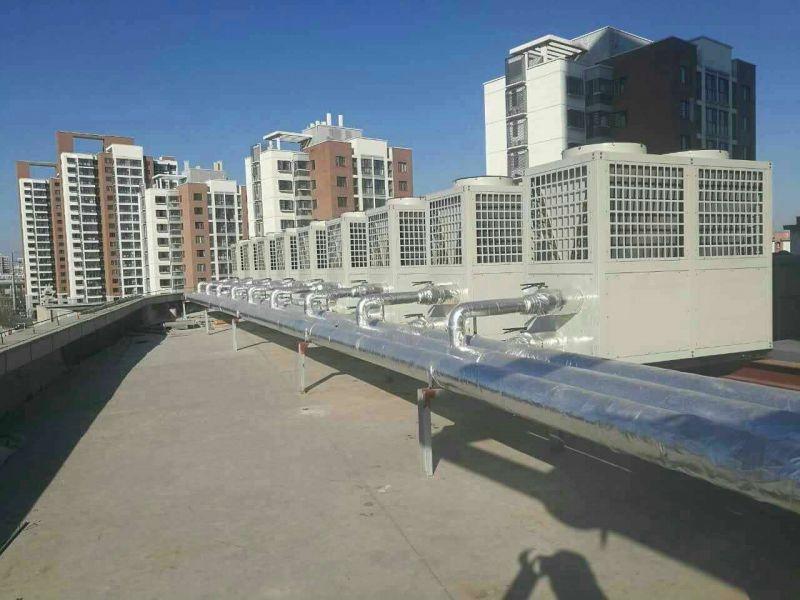 天津亿洲鹏泽酒店空气源热泵采暖制冷案例分析