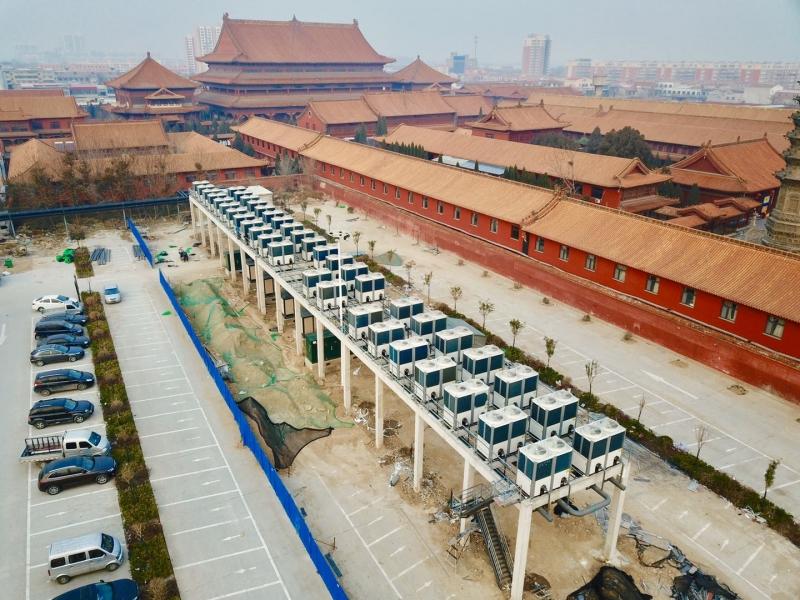 赵县全县城超400万㎡空气源热泵集中供暖